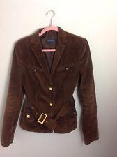 Authentic Adolfo Dominguez Brown Cord Jacket. Excellent Cond. Superb Detail. 12