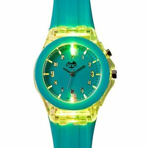 Tinc Light Up Children's Watches Learn To Tell Time Analogue Wrist Watch - Blue