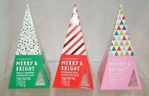 U PICK Merry Bright BATH SALTS Sugar Frosting Scent Vanilla Cranberry Peppermint