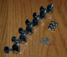 6 IN LINE GUITAR MACHINE HEADS TUNERS TUNING PEG PARTS PART REPAIR REPLACE FIX