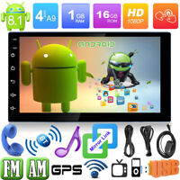 "2Din 7"" Android 8.1 Autoradio Car Stereo MP3 MP5 Player BT4.0 GPS Nav AM FM WiFi"