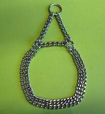 Würger Kettenwürger mit Begrenzung Halsband Chrom Durchmesser ca. 8-10 cm