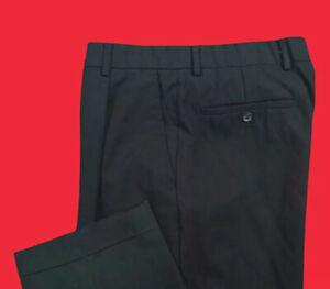 WILKE  RODRIGUEZ ... Wool  Black  Pleat   Cuff  Dress  Pants ... Size  34 x 32