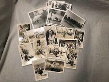 (26) c1940s WWII Era Hawaii Photo Lot Palm Trees Hula Girl Tiki Glossy Matte B&W