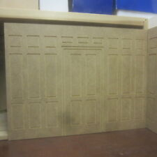 Dolls House 12th scale   Wall Panelling very Tall 3 high False Door Way  MDF314