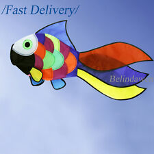 "Rainbow Cute Fish Windsock Wind Spinner Colorful 31"" with Swivel Garden Decor"