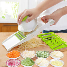 6 PC Vegetable Fruit Mandolin Slicer Peeler Dicer Cutter Chopper Nicer Grater