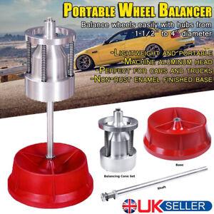 Pro Heavy Duty Rim Tire Hubs Wheel Balancer W/ Bubble Level Portable Cars Truck