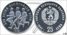 Bulgaria    KM00196 PROOF 25 Leva 1990 / Olimpiada Barcelona 92 Atletismo /  23