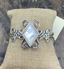 Barse Endless Cuff Bracelet- Mother Of Pearl- Sterling Silver- NWT
