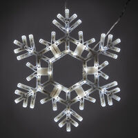 """20"""" Cool White Lighted Christmas Snowflake Outdoor Display Hanging Folding Decor"""