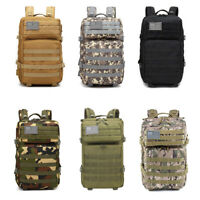 45L Outdoor Military Molle Tactical Backpack Rucksack Camping Bag Travel Hiking
