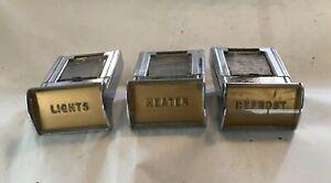O.E.M 1949 Lincoln Dash Buttons Partial Set - Lights - Heater Defrost- Clean Set