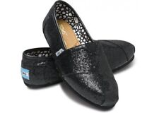 Authentic Black Glitter Womens Toms One For One Brand New