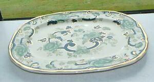 Masons Ironstone Chartreuse Pattern Green 1 x Serving Platter 39cm