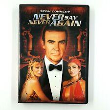 NEVER SAY NEVER AGAIN (DVD, 2000) Sean Connery James Bond 1983 RARE OOP