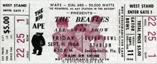 1  BEATLES VINTAGE UNUSED FULL CONCERT TICKET 1964 Jacksonville FL wh  laminated