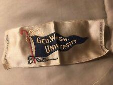 1910s S24 Twelfth Night cigarettes silk Geo. Wash. University Nice!