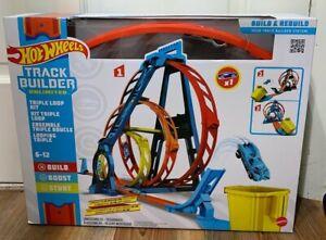 Hot Wheels Track Builder Unlimited Triple Loop Kit Multi Color GLC96