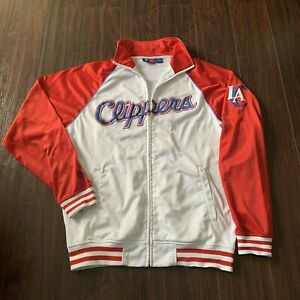 Los Angeles Clippers NBA Majestic Track Jacket Zip Up  Size Medium