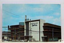 Pennsylvania PA Pittsburgh Greyhound Bus Station Ramp Parking Garage Postcard PC