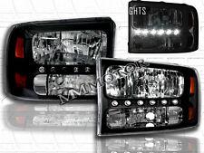 99-05 F250/F350 SUPERDUTY / 00-04 EXCURSION HEADLIGHTS BUMPER LED CORNER BLACK