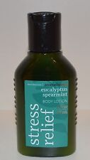 Bath Body Works Stress Relief Eucalyptus Spearmint Lotion Hand Cream Tr