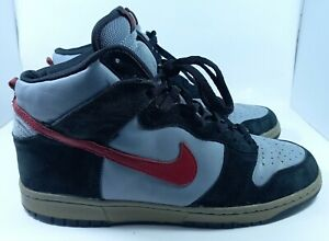 Nike Dunk High RARE 2004 Stealth Deep Red Black 304717 061 Size 12