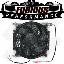 "PWR 6AN Flare Automatic Transmission Oil Cooler, 10"" Thermo Fan & Temp Switch"