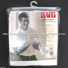 BVD 3-PACK MEN'S CREW-NECK WHITE T-SHIRTS MEDIUM MADE IN USA BNEW