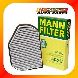 OEM Mercedes Benz A/C Cabin Air Filter Charcoal Carbon Mann-Filter CUK2897