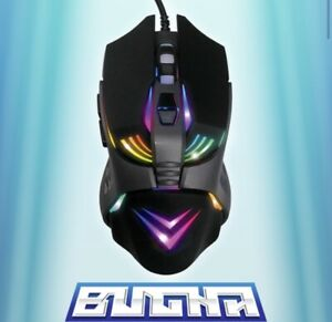 NEW Bugha EXCLUSIVE LED Gaming Mouse 7-Key/7200 DPI USB Wired For PC