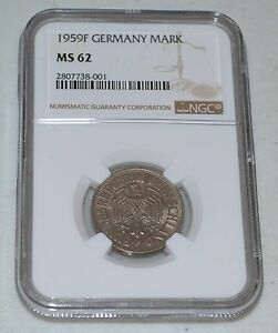 1959-F German Mark from Germany Graded by NGC as MS 62