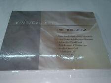 Bamboo Sheets King 4pc Bed Sheet Set - Luxuriously Soft Bed Sheets