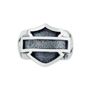 Harley Davidson Thierry Martino Handcrafted Bar & Shield .925 Silver Ring NWT
