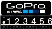 GOPRO STICKER GoPro 6 in x 1.75 in Black/White Skate Snowboard Ski Surf Decal
