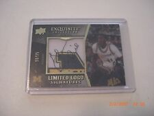 GLEN RICE 2012-13 EXQUISITE COLLECTION LOGO JERSEY PATCH AUTO 10/25 SIGNED CARD