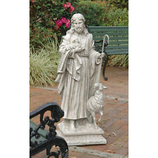 """Design Toscano 43"""" Jesus The Good Shepherd Grande Sculpture Garden Statue"""