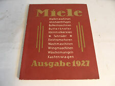 ancien catalogue de Miele Ausgabe 1927