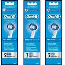 9 ORAL-B Precision Clean Replacement Toothbrush Teeth Tooth Brush Heads Packs