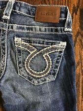 New $136 Big Star Vintage Liv straight stretch Buckle jeans women's sz 24R