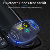 Bluetooth Car USB Charger FM Transmitter Radio Adapter MP3 Player Quick ChargDDE