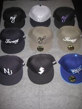 NEW JERSEY New Era 59Fifty Fitted Cap Lot (9 hats) 7 1/8 HARD TO FIND!!