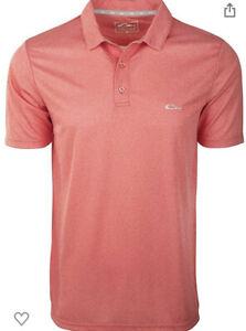 Drake Sportswear Men's Heathered Polo Sz. Small NEW DS4020-RDH-1