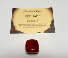 1 large Red Jade gemstone with free crystal card and organza bag