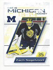 2013-14 Michigan Wolverines Zach Nagelvoort (goalie) (Jacksonville IceMen)