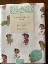 Cynthia Rowley Adorable Dachshunds Tropical Beach Attire Tablecloth  60 x 84