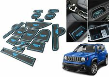 16 Piece Blue Interior Mat Set For 2015-2017 Jeep Renegade New Free Shipping USA