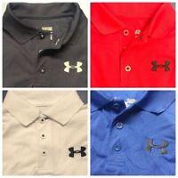 Under Armour Junior Boys Performance Polo Shirt - New UA Kids Golf Top