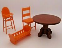 Vtg Sunshine Family Dollhouse Lot Parts Accessories 1973 Mattel 7801 Table Chair